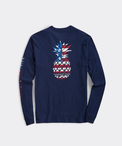 Pineapple Flag Fill Longsleeve Pocket T