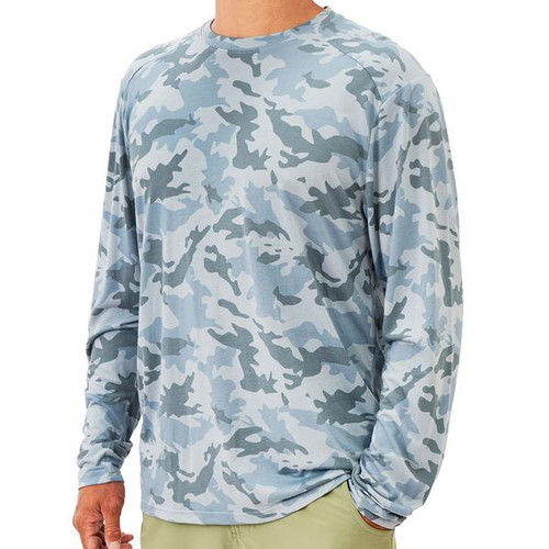 Men's Water Camo Bamboo Lightweight Long Sleeve