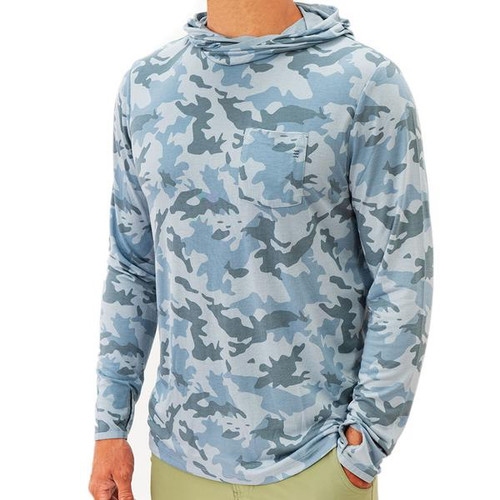 Men's Water Camo Bamboo Lightweight Hoody