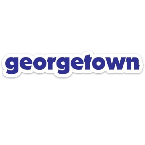 georgetown name sticker