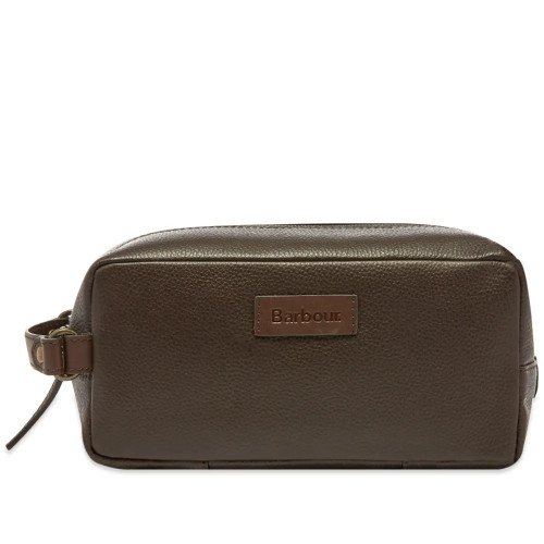 Compact Leather Washbag