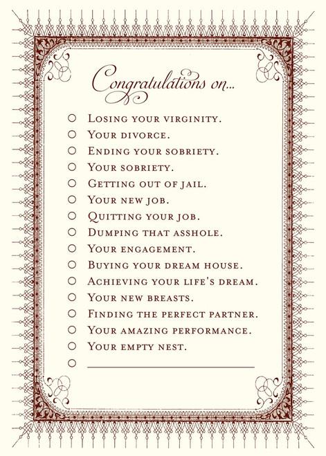 Congratulations A7 Notes