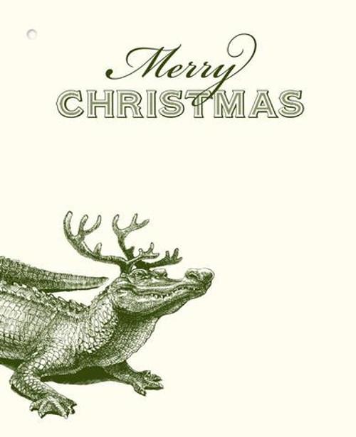 Christmas Gator Gift Tags