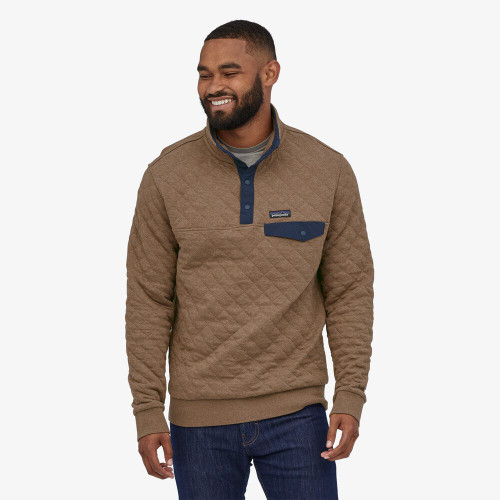 M's Organic Cotton Quilt Snap-T Pullover