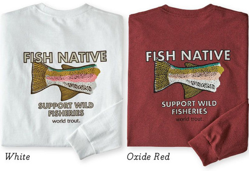 M's Longsleeve Fish Native World Trout Responsibili-Tee