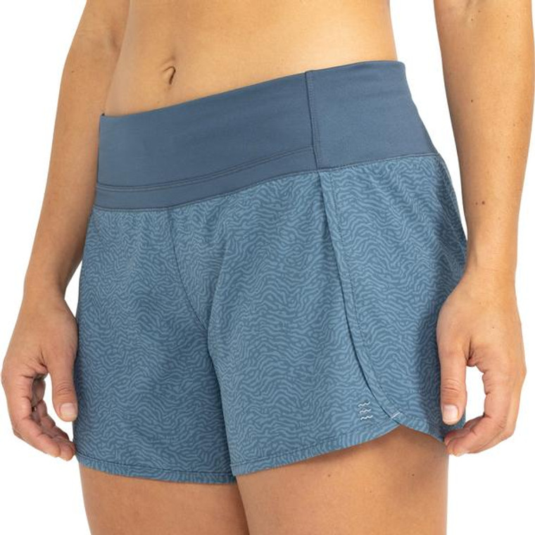 Women's Bamboo-Lined Breeze Short in Tidewater Print