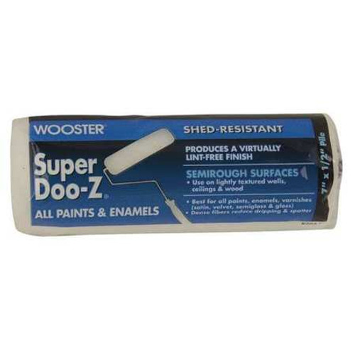 """Super Doo-Z 7"""" x 1/2"""" Lint-Free Woven Roller Cover (Case of 12)"""