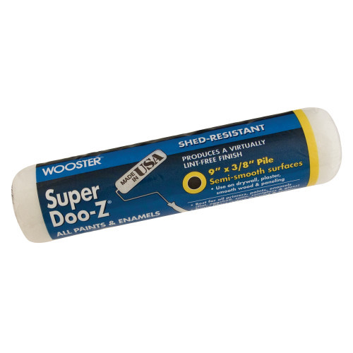"""9"""" x 1/2"""" Super Doo-Z Lint-Free Woven Roller Cover (Case of 12)"""