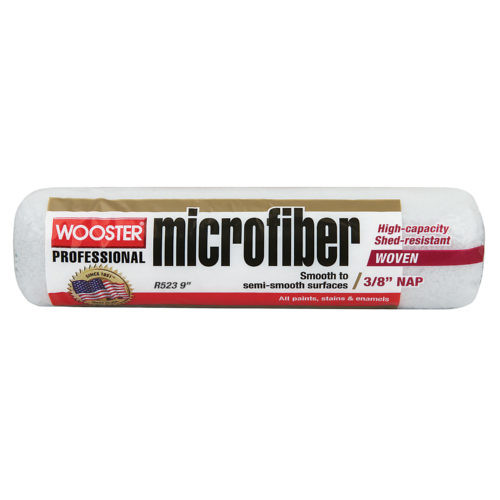 """Wooster MicroFiber 9 x 9/16"""" nap roller cover"""