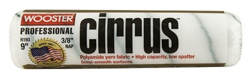 "Wooster Cirrus 18"" x 3/8"" nap roller cover (Case of 6)  Picture is of 9"", but this product is 18"""