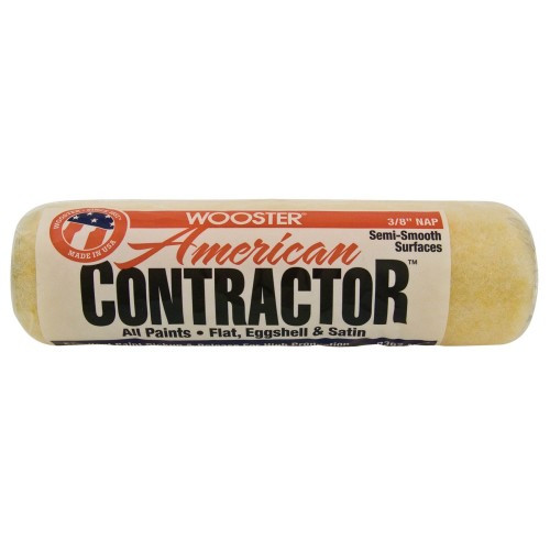 """American Contractor 9"""" x 3/8""""  Professional Polyester Knit Roller Cover (Case of 100)"""