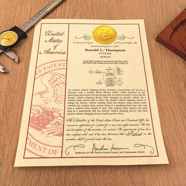 Patent Certificate - 10 Millionth Design