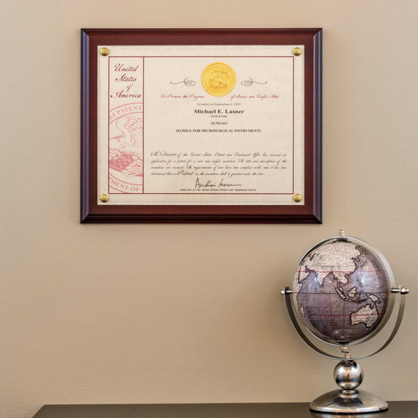 10 Millionth Patent Certificate Mounted on Wood