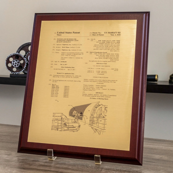 U.S. Front Page Patent Plaques