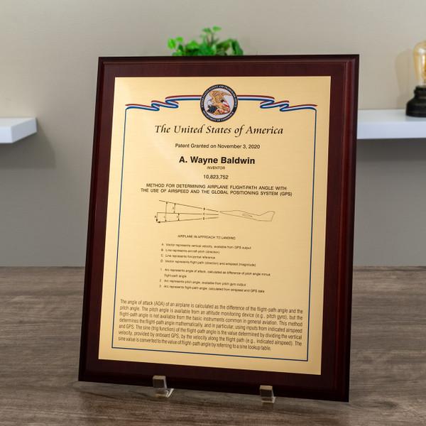 U.S. Series Ribbon Patent Plaques