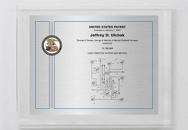 U.S. Series Landscape Patent Plaques