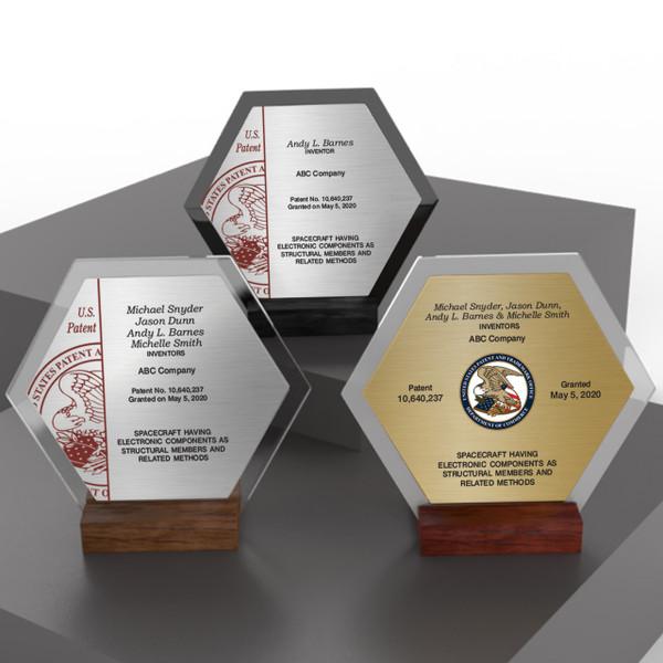 Acrylic Desktop Patent Awards - HexAward