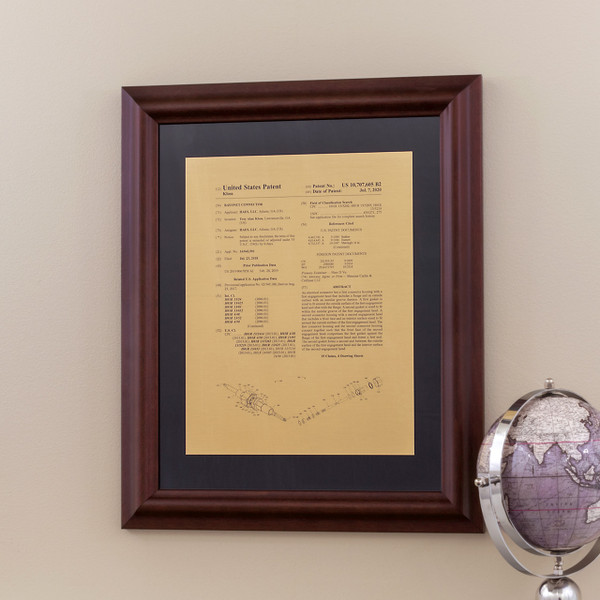 Framed Patent Front Page