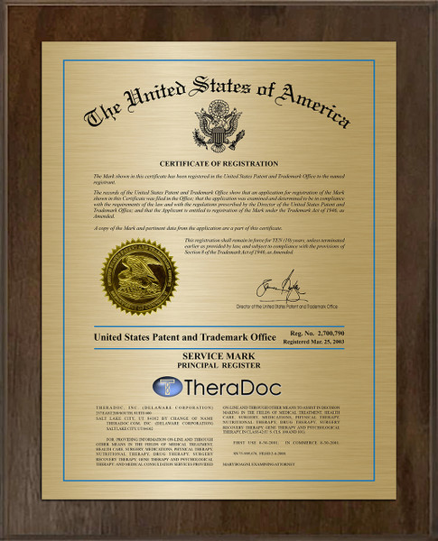 Modern Cover Trademark Plaque