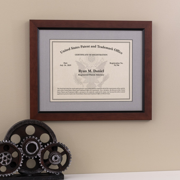 Patent Attorney Eagle Design Frame