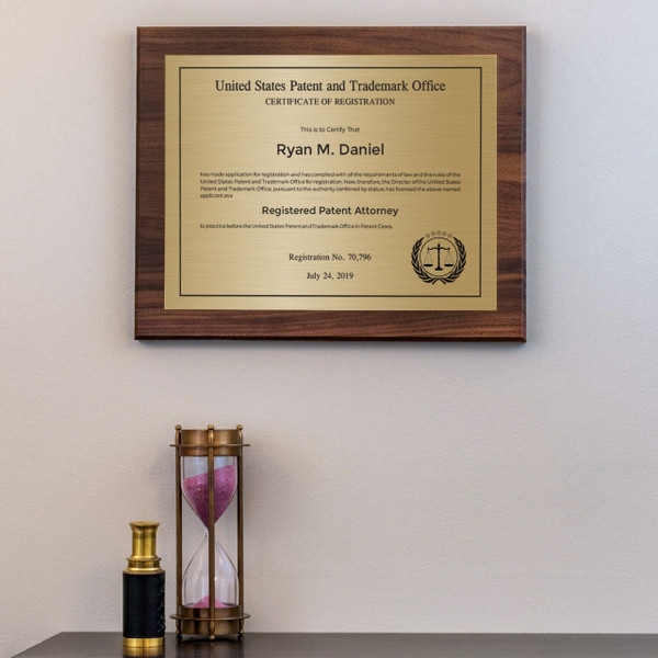 Patent Attorney Traditional Plaque