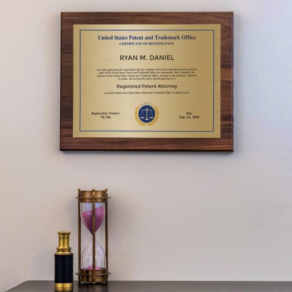Patent Attorney Modern Plaque