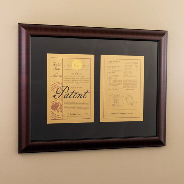 Framed Patent 10 Millionth Cover - Large Framed Double Mount