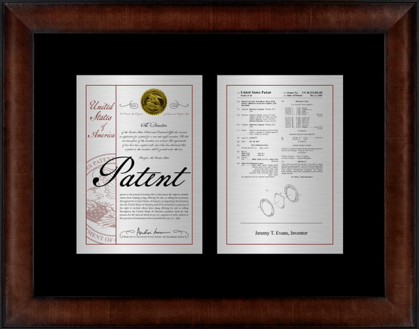 Large Patent Frame Double Mount - Framed Patent