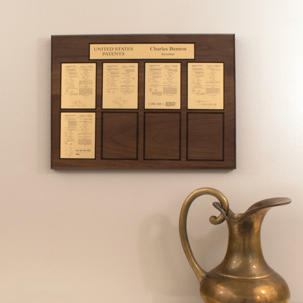 Perpetual Patent Plaque - Displays 8 Patents (R5001)