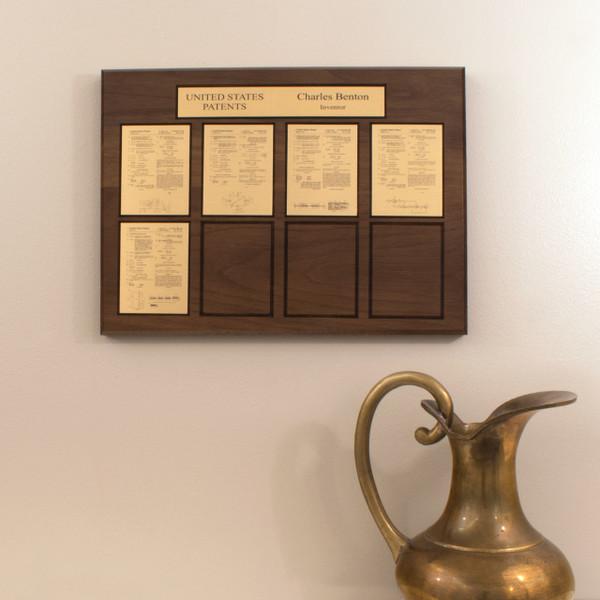 Brass on Walnut Perpetual Patent Award