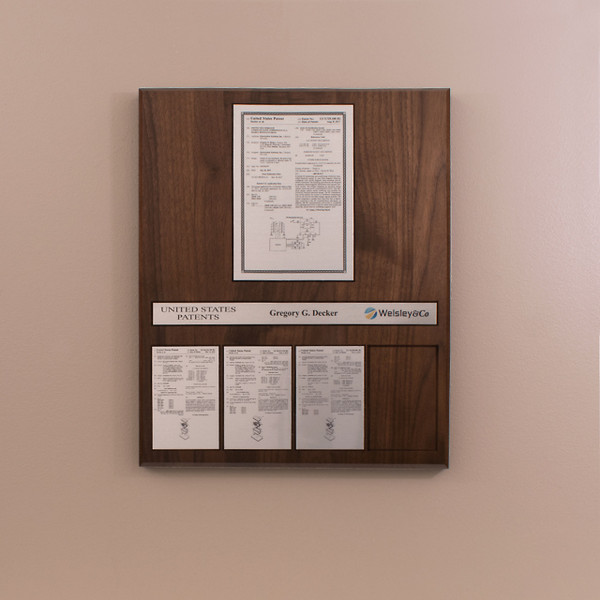 Perpetual Patent Plaque - Displays 5 Patents (R5002)