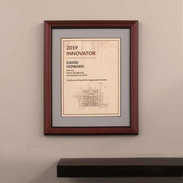Framed Innovator Award