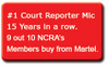Over 93% of all Court Reporters buy their microphones from Martel Electronics