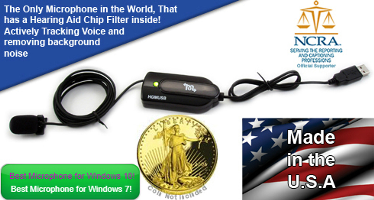 ELITE COURT REPORTER USB MICROPHONE HGM-USB