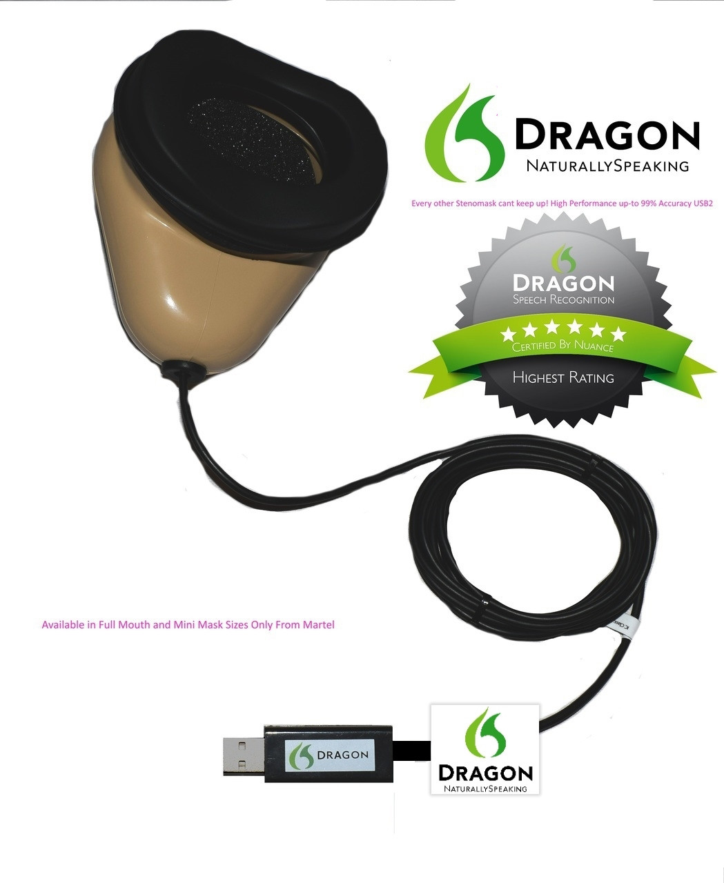 Revolutionary Dragon Stenomask for Voice Recognition
