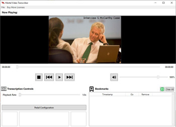 Video transcription software