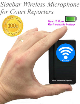 Sidebar wireless microphone system for court reporters