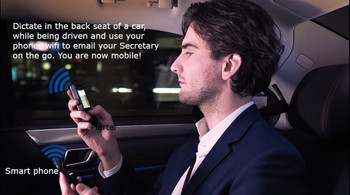 Lawyers Wifi Emailing Dictation Recorder with Rewind Slide Control just like a tape recorder