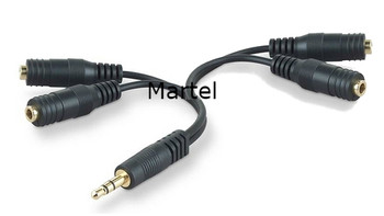 4 Female 1/8 to 1 Male 1/8 Custom Cable Exclusive to court reporters from Martel