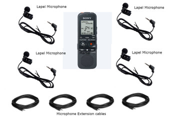 Sony recorder meeting lapel microphone package
