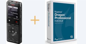 Dictation machine + Dragon Voice Recognition Software Exclusive