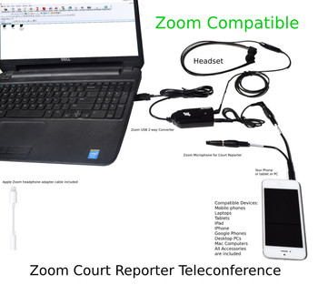 Zoom Compatible Court Reporter