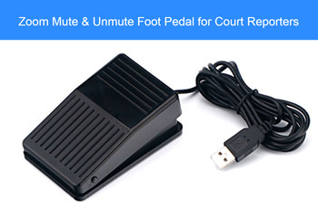 Zoom Mute Foot Pedal