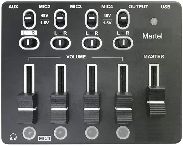 court reporter microphone mixer 4 channel