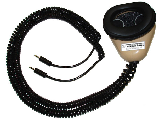Dual microphone stenomask with 2 cables for the computer and back up digital recorder