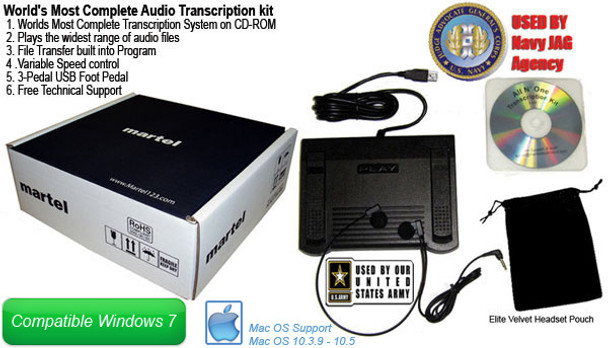 Court Reporter/Scopist Transcription software with USB computer foot pedal 3-way control Fast forward, Rewind, Play