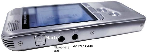Court Reporter recorders microphone input jack & headset input