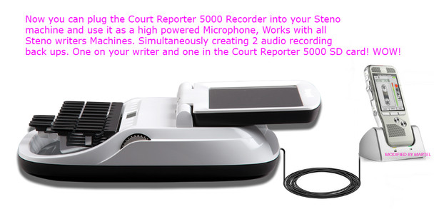 use the Court Reporter 5000 recorders microphone as you Diamante or Luminex writers microphone