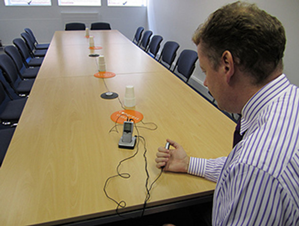 Recording a conference meeting with a digital voice recorder & remote control