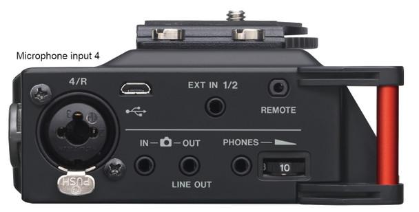 Courtroom Recorder DM246 side 4 microphone input jacks